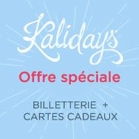 kalidea CE offre spéciale billetterie + cartes cadeaux
